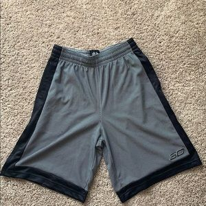 Under Armour Steph Curry basketball shorts.